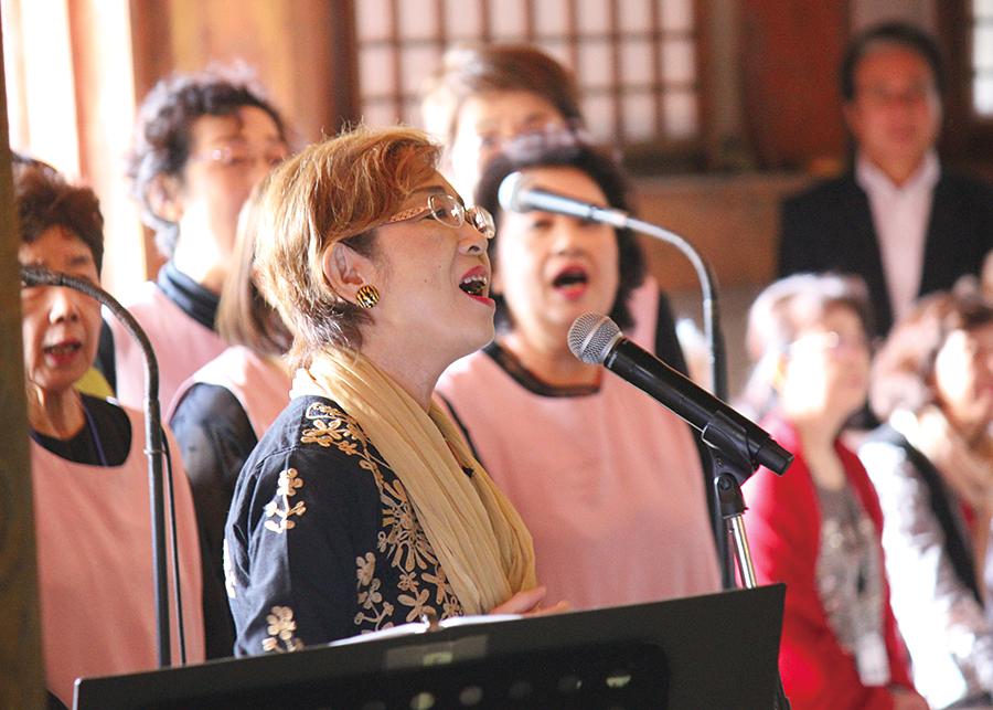 音楽の森 自然学校 歌の奉納